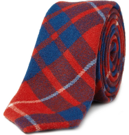 Alexander Olch The Walter Plaid Wool Tie | MR PORTER