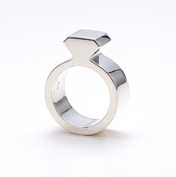 buyAMT Shop — Diamond Silver Ring - 9mm wide