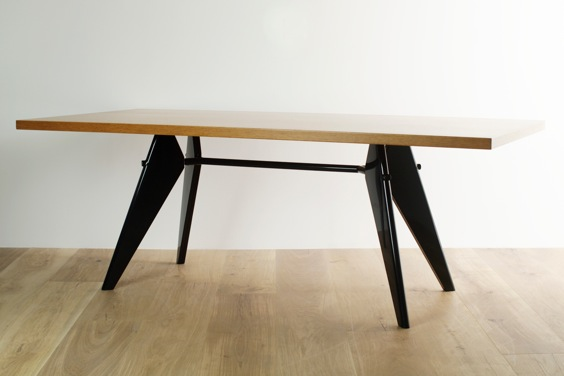 vitra em table by jean prouve sumally. Black Bedroom Furniture Sets. Home Design Ideas