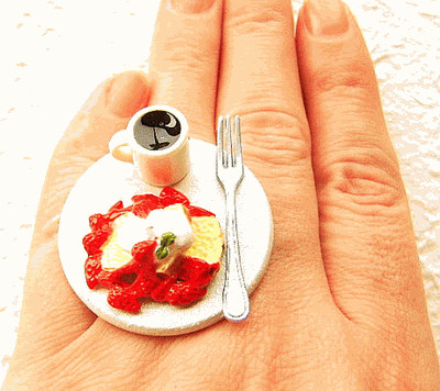 Coffee and French Toast Miniature Food Ring
