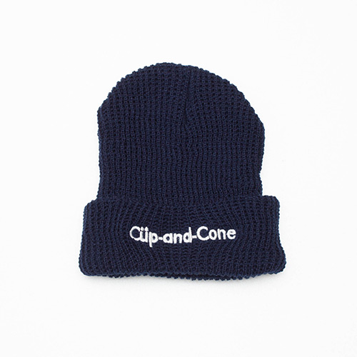 Ice Cream Watch Cap - Navy - cup and cone WEB STORE