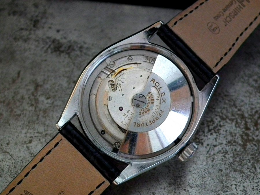 Incredibly Rare and Beautiful 1955 Rolex Oyster 'Lifesaver' Dial Semi-Bubbleback Gents Vintage Watch | Sonning Vintage Watches