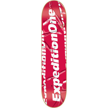 Expedition One Skateboards Logo Type Skateboard Deck 8.25 Red   Live Well Sports