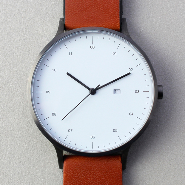 INSTRMNT 01-A (gunmetal/tan) | Designer Watches | Dezeen Watch Store