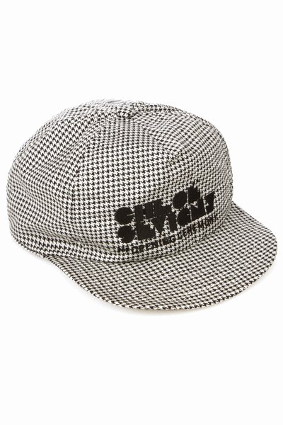 CHLOE SEVIGNY FOR OPENING CEREMONY LOGO CAP - HOUNDSTOOTH - CWA03-PS11 - WOMEN - CHLOE SEVIGNY FOR OPENING CEREMONY
