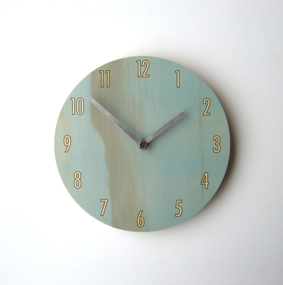 Objectify Blue Shade Wall Clock by ObjectifyHomeware on Etsy