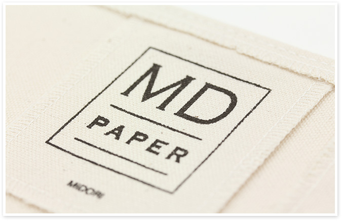 MD PAPER PRODUCTS|製品紹介 5周年記念 限定アイテム 帆布(はんぷ)カバー