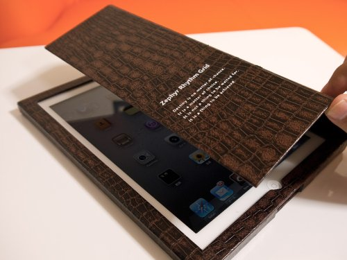 Amazon.co.jp: Book Type Case for iPad(3rd) & iPad2 [LIBRO3](Crocodile Brown): パソコン・周辺機器