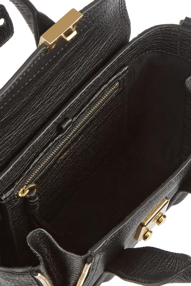3.1 Phillip Lim | The Pashli mini textured-leather trapeze bag | NET-A-PORTER.COM
