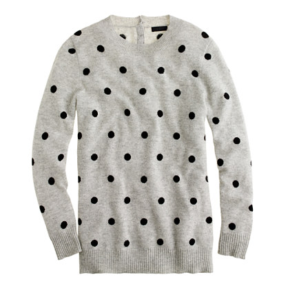 Collection cashmere polka-dot sweater - sweaters - Women's new arrivals - J.Crew