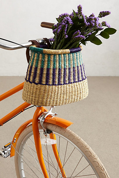 Tonal Weave Bike Basket - anthropologie.com