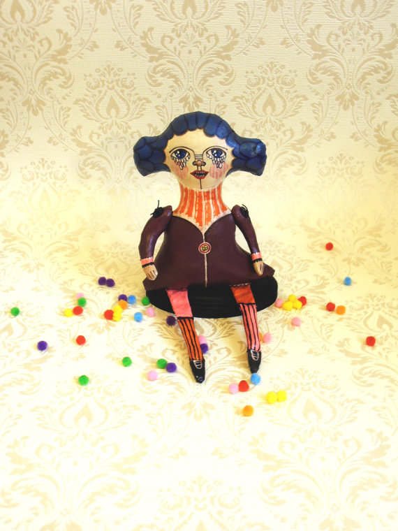 Meredith OOAK circus doll by RominaBCanet on Etsy