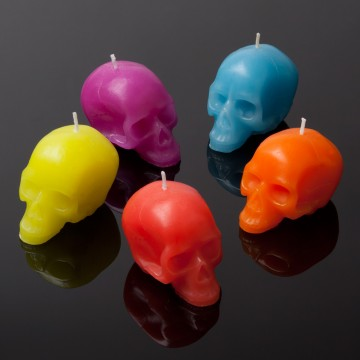 Mini Neon Skull Candles SOLD OUT! COMING SOON - Maison 24