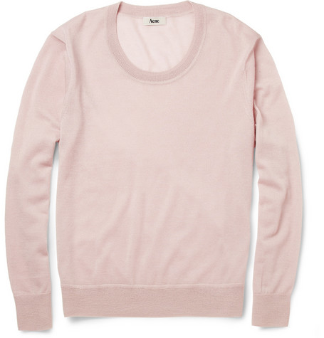 Acne Justice Low-Neck Cashmere Sweater | MR PORTER