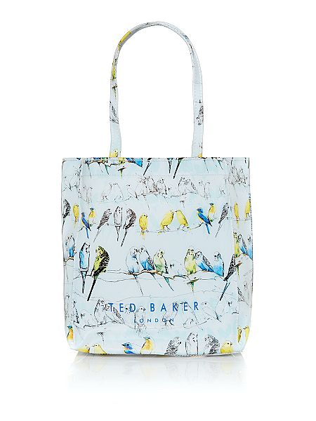 Ted Baker Blue small bird print tote bag - House of Fraser
