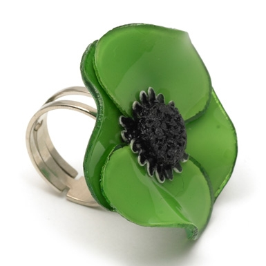 V&A Victoria Albert Museum > Main Section > Shop by product > Jewellery > Anemone Ring by Cilea (Small) (Green)