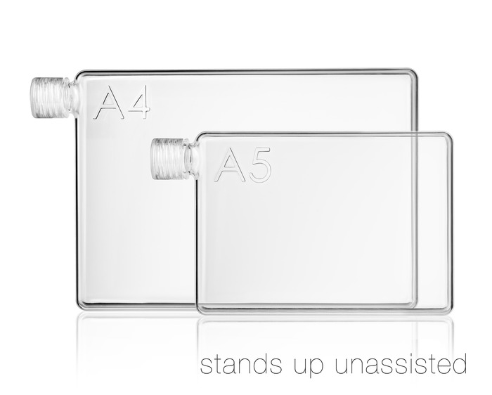 A4, A5 and letter sized reusable water bottles by memobottle