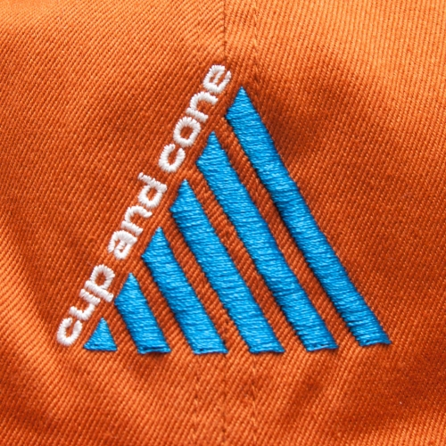 Tri Logo 6 Panel - Orange - cup and cone WEB STORE