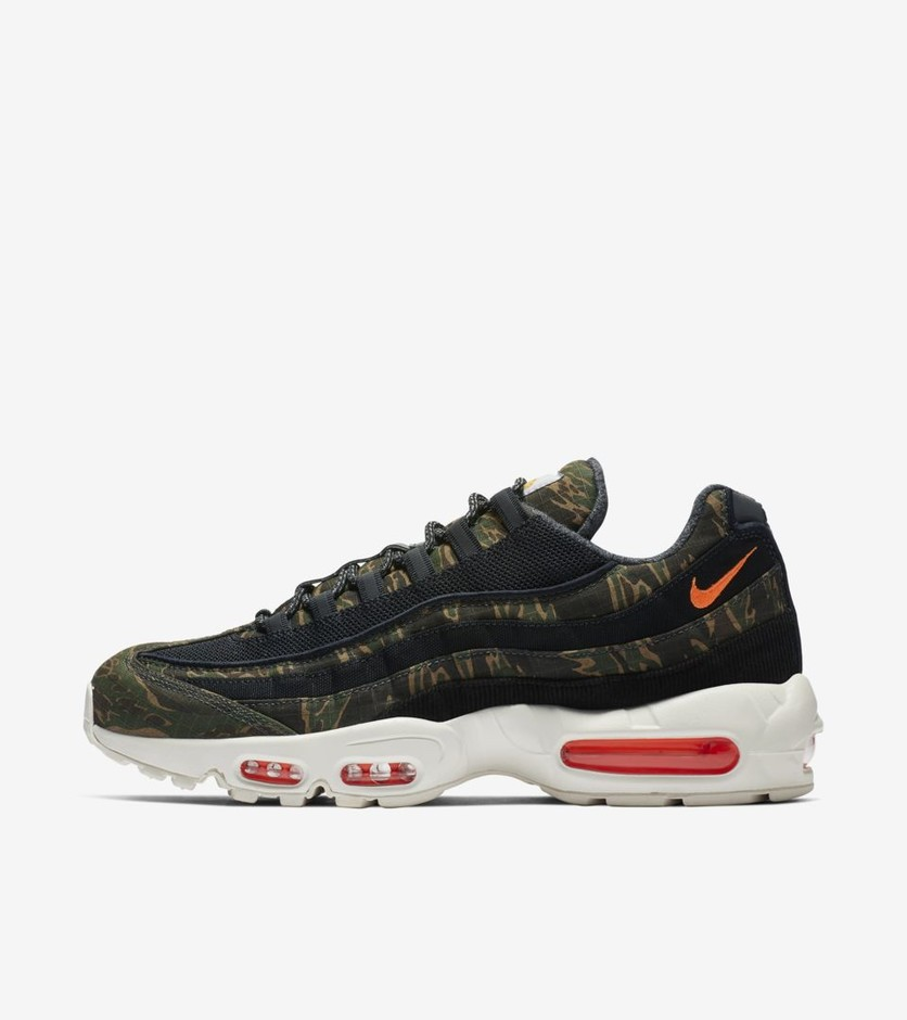 Nike Air Max 95 Carhartt WIP 'Black Sail & Total Orange' Release Date.. Nike⁠+ SNKRS
