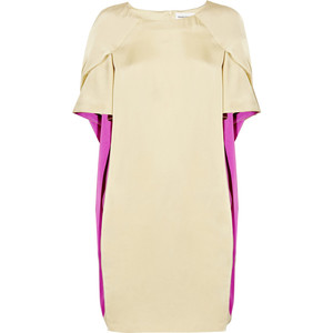 Hussein Chalayan Two-tone satin cape-back dress - 60% Off Now at THE OUTNET