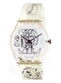 Swatch Graphickers - Watch - GK208 | Squiggly Swatch Watches and Straps