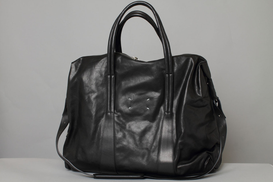 Martin Margiela - Soft black Leather Bag - Sacca morbida in pelle nera - shopping online | fashion designers e-commerce