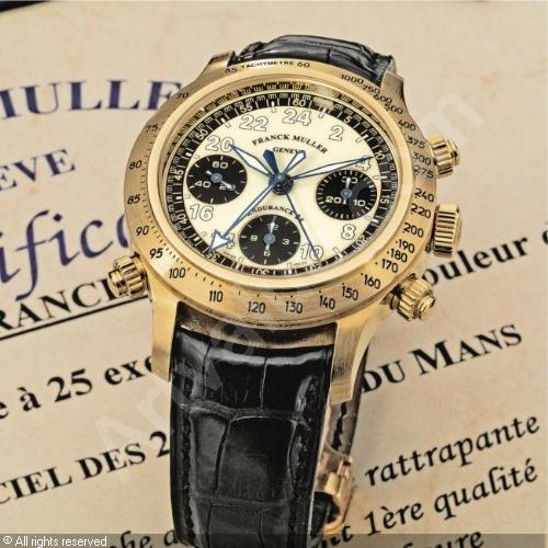 FRANCK MULLER, ENDURANCE 24 YELLOW GOLD AUTOMATIC SPLIT-SECONDS CHRONOGRAPH WRISTWATCH, LIMITED EDITION OF 25 | NO. 10/25, CIRCA 1998 | Watches & Wristwatches Auction</li> | self-winding (automatic), split-seconds chronograph | Christie's