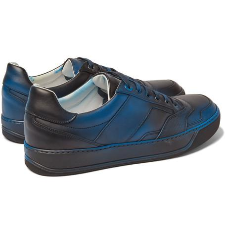 Lanvin - Spray-Painted Leather Sneakers