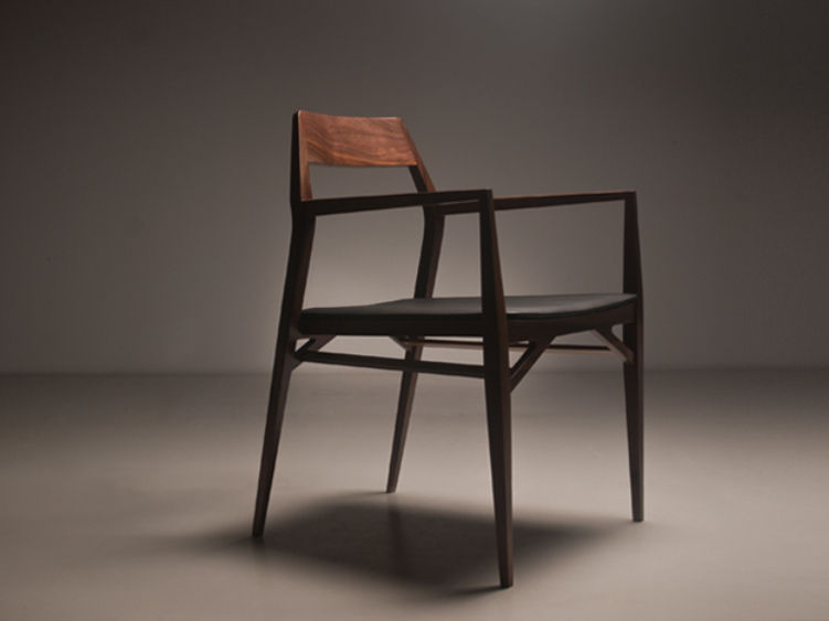 Contemporary wooden chair with armrests - AYA by Marco Sousa Santos - Branca-Lisboa