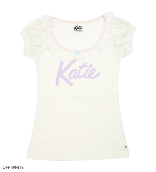 TEE - KATIE LOGO frill tee - Katie Official Web Store