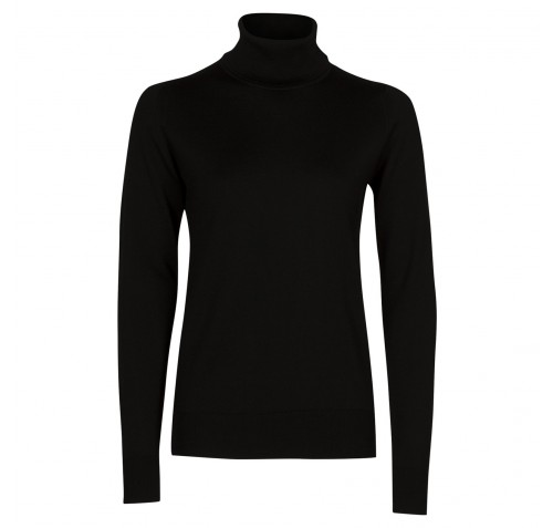 Tracey In Black, Sweater Made From New Zealand Merino Wool   John Smedley Official Store