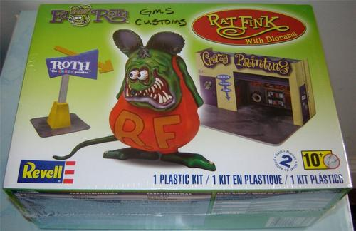 Revell 85 6732 1 25 Rat Fink w Diorama Factory SEALED in Stock Shipping Now | eBay
