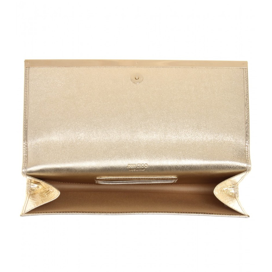 mytheresa.com - Maia leather clutch - Clutch bags - Bags - Jimmy Choo - Luxury Fashion for Women / Designer clothing, shoes, bags