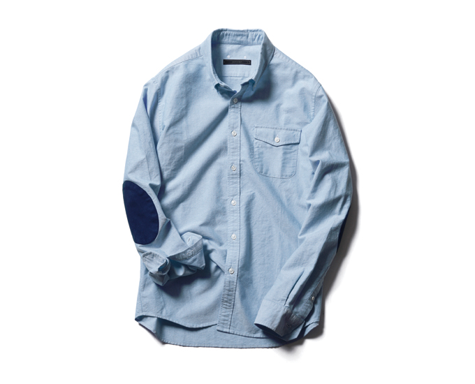 SOPHNET. | PRODUCT | COTTON OXFORD ELBOW PATCHED SHIRT