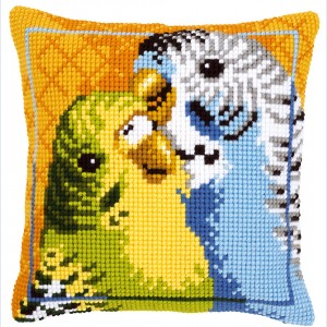 Nafra :: Kousen :: Handwerken :: Breigarens - Badgies - Cross-stitch cushion - Vervaco