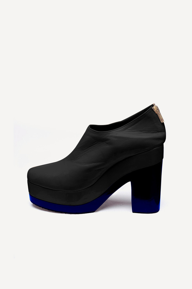 Shakuhachi - COLOUR BLOCK BOOT - BLACK & COBALT