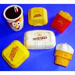 Vintage 80's McDonalds Fast Food Transformers Toys Lot Chicken McNuggets Hotcakes Ice Cream French Fries Happy Meal | ThisNext