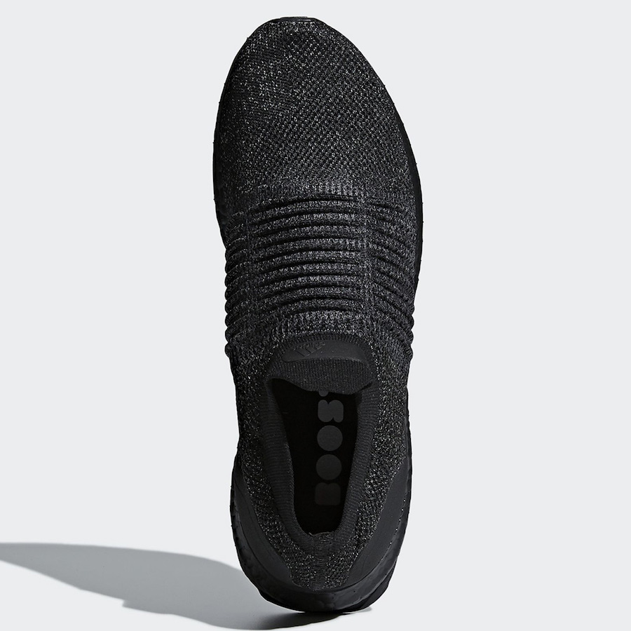 adidas Ultra Boost Laceless Triple Black BB6222 - Sneaker Bar Detroit
