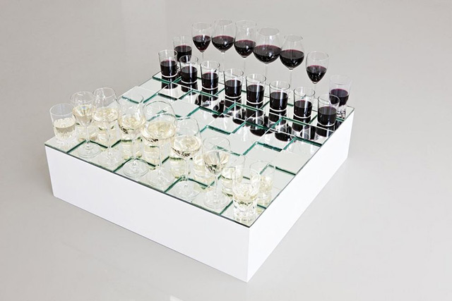 Wine Glass Chess Set - today and tomorrow