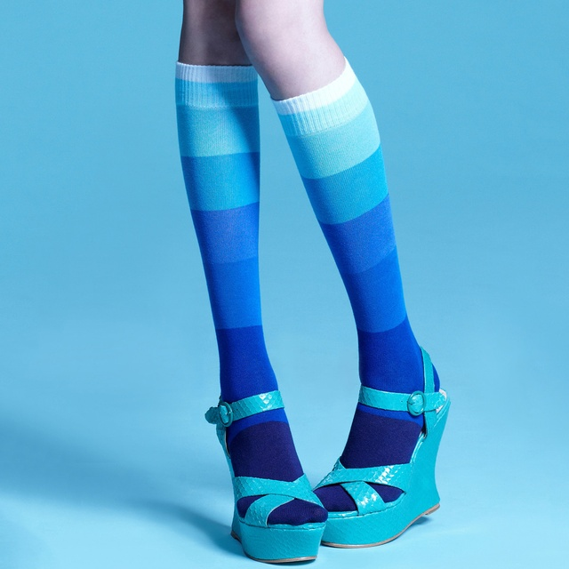 Raven Blue Knee-High Socks by Da Sein | women's