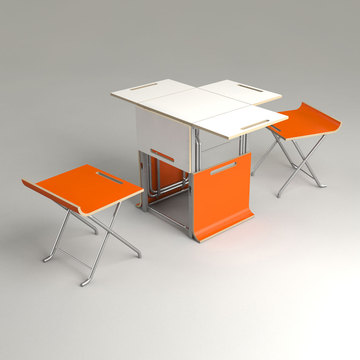 Fab.com | Paket Folding Table Gray