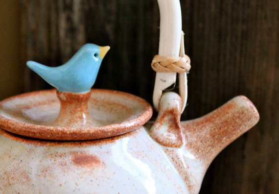 CustomMade Birdie Teapot 4 to 6 Weeks for by tashamckelvey