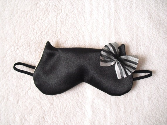 Silk Satin Cat Sleep Eye Mask by Naomilingerie on Etsy
