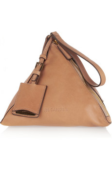 Jil Sander | Leather pyramid clutch | NET-A-PORTER.COM