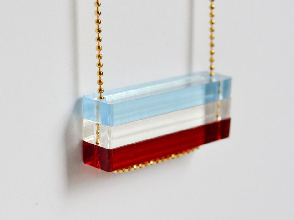 Red White and Blue Necklace 4th of July Stars by HookAndMatter