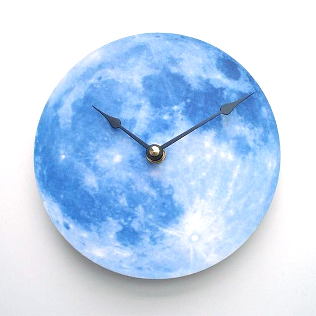 Blue Moon Clock by CyberMoon on Etsy