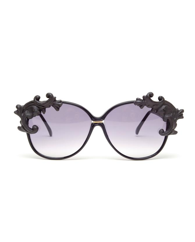 Browns fashion & designer clothes & clothing | MOO | 'Noir Desire' oversized sunglasses with porcelain