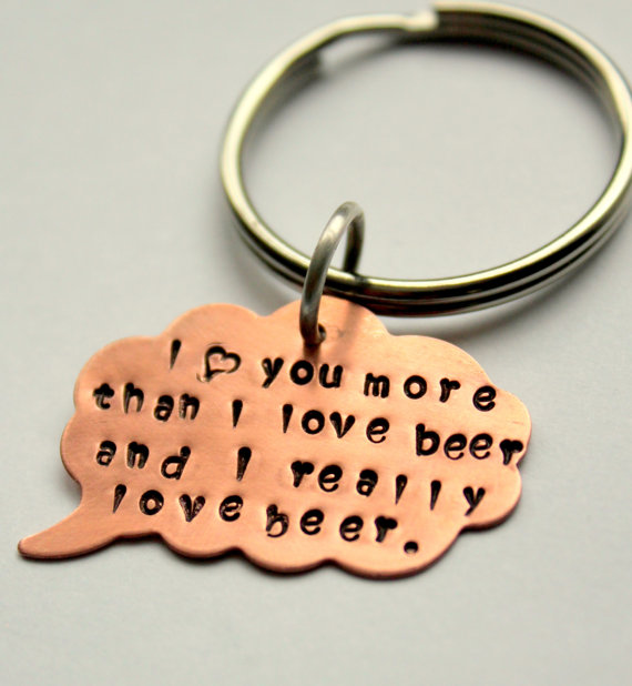 Funny Valentine Men I love You More Than Beer by whiteliliedesigns - wanelo