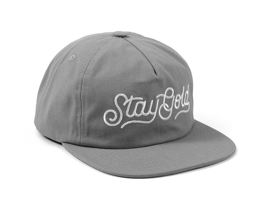 Stay Gold Navy Canvas Unstructured Snapback | Benny Gold