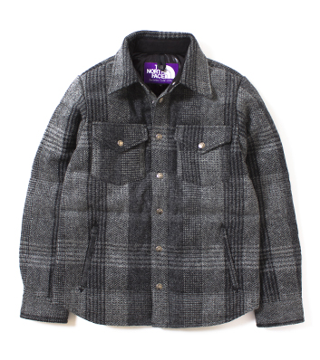 nanamica / Harris Tweed Down Shirt
